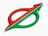 Communication Concept With Red And Green directional arrows