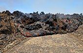 Lava Engulfs Road