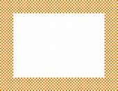 Orange And White Checkered Frame