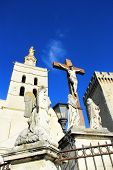 picture of avignon  - The Popes Palace in Avignon UNESCO World Heritage Site Popes Palace square - JPG