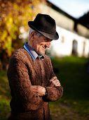Old Romanian Farmer