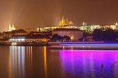 View Of Prague And The Vltava River.