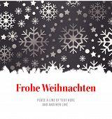 stock photo of weihnachten  - Christmas greeting in german against snowflake wallpaper pattern - JPG