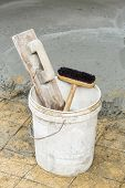 Wooden Trowel And Brush