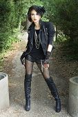 Edgy gothic girl