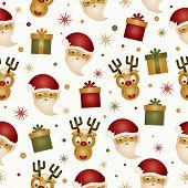 santa and reindeer pattern