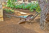 Old Rusty Iron Plow View