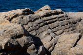 Limestone rocks with pattern