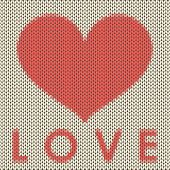 Knitted Love Vector Background