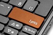 Lyrics. Orange Hot Key On Computer Keyboard