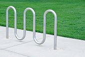 Empty Bicycle Rack