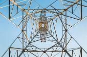 High Voltage Transmission Pylon Closeup