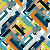 Abstract Seamless Pattern Of Triangles And Lines