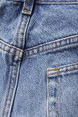 Denim blue jeans rear