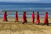 Balinese Hindu Men On The Beach