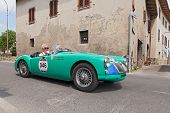 Vintage Mg A Roadster In Mille Miglia 2014
