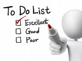 To Do List Checking By 3D Man