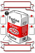 Vintage Hand Drawn Advertising Flour Pizza Page