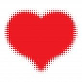 Red Heart Halftone logo