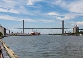 Large Freighters On Savannah River