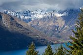 Landscape Of Lake In The South Island, Queenstown New Zealand