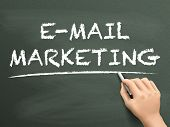 E-mail Marketing Words Written By Hand