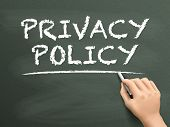 Privacy Policy Words Written By Hand