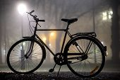 Silhouette Of Parked Bicycle