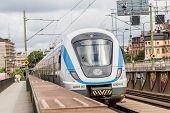 Modern  Train In Sweden