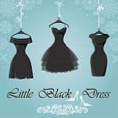 pic of little black dress  - The composition of the three female - JPG