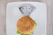 Burger On Weight Scale