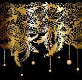 Golden Lacy Decor