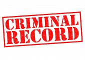 pic of vicious  - CRIMINAL RECORD red Rubber Stamp over a white background - JPG