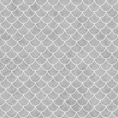 Gray And White Shell Tiles Pattern Repeat Background