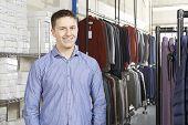 Businessman Running On Line Fashion Business