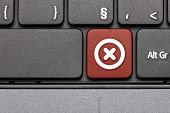 Cancel. Red Hot Key On Computer Keyboard.