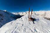 On The Top By Ski Touring