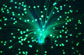 Abstract Fiber Optics Background