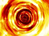 picture of plasmatic  - Fire star tunnel generated texture or background - JPG