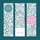 Vector colorful bubbles vertical banners set pattern background