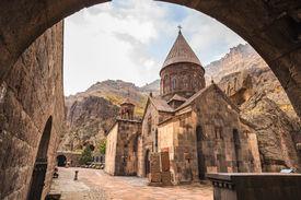 foto of armenia  - Geghardavank or Geghard monastery is an Orthodox Christian monastery located in Kotayk Province of Armenia - JPG