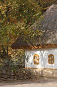Autumnal Scenery. Ukrainian Hut.