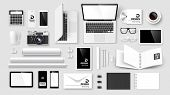 image of letterhead  - Mock Up set of corporate identity and branding on light background - JPG