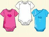 Baby Onesie Set In Different Styles