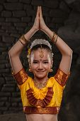 picture of national costume  - European child in national costume of India - JPG