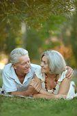 foto of maturity  - Portrait of a happy nice mature couple - JPG