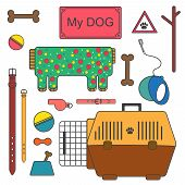 picture of toy dogs  - Set of Dog - JPG