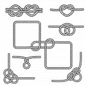 foto of lasso  - Set of nautical rope knots - JPG
