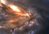 picture of incredible  - Incredibly beautiful spiral galaxy somewhere in deep space - JPG