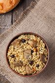 foto of indian food  - Pilaf is spicy indian food cooked with lot of rice - JPG